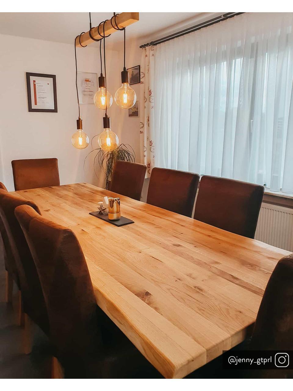 Pendelleuchte Townshend aus Holz, Schwarz, Holz, 70 x 110 cm