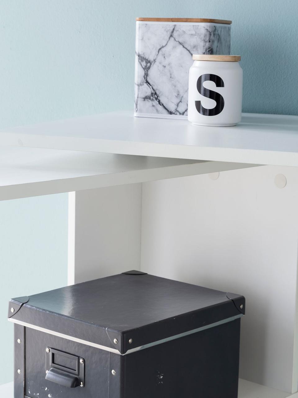 Scrivania ad angolo bianca Lemina, Pannello di fibra a media densità (MDF) verniciato, Bianco opaco, Larg. 119 x Prof. 49 cm