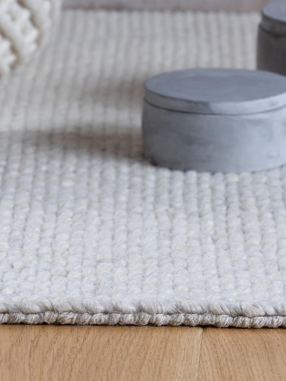 Tapis laine blanc crème tissé main Eskil, Crème