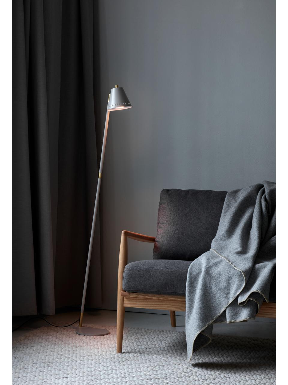 Liseuse rétro Pine, Gris, couleur laitonnée