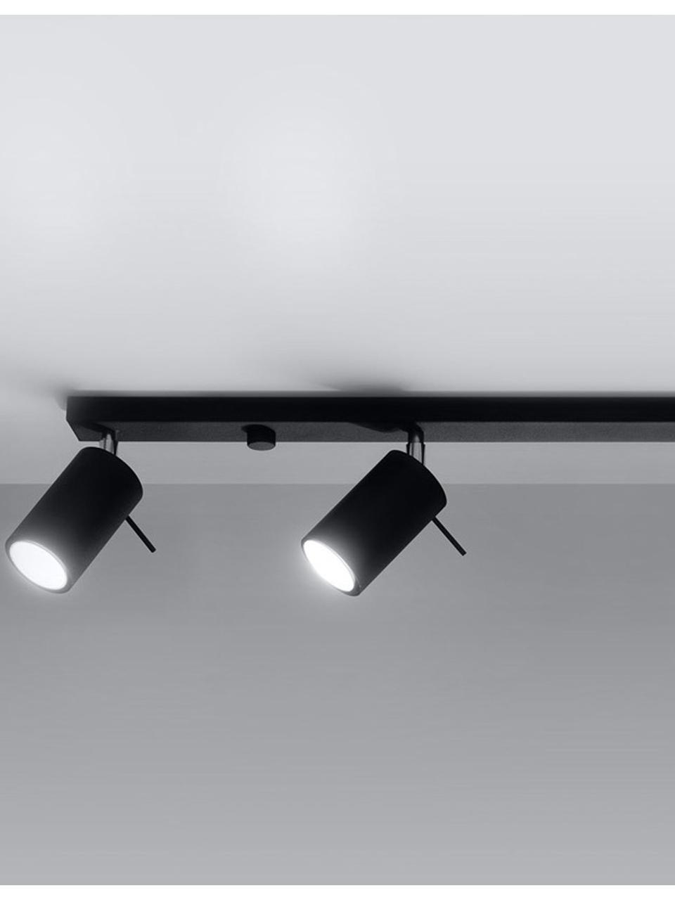 Plafonnier 4 spots noir Etna, Noir