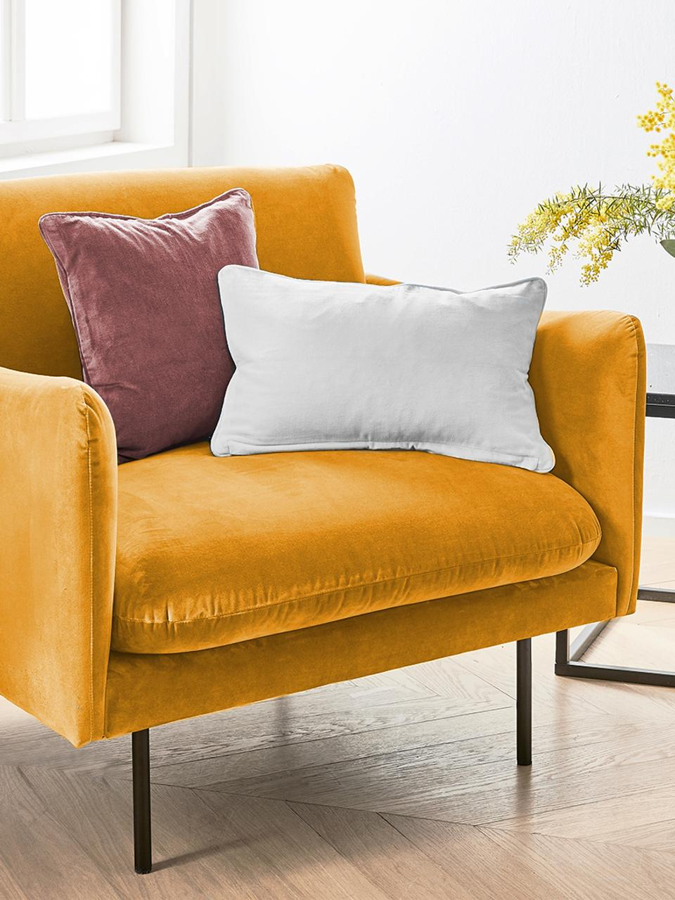 Fauteuil moderne velours jaune moutarde Moby, Velours jaune moutarde