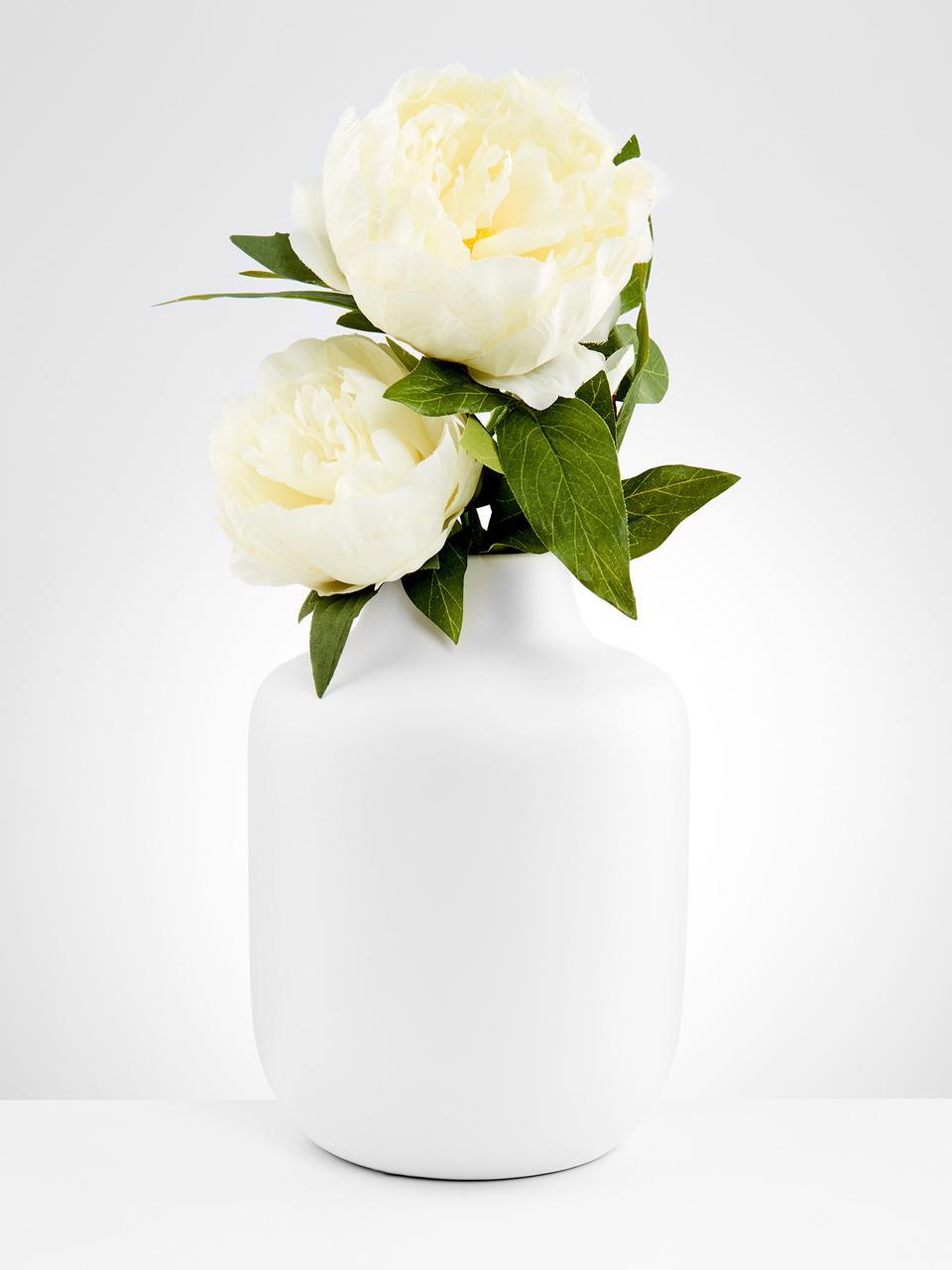 Porseleinen vaas Belle Blanc, Porselein, Wit, Ø 17 cm