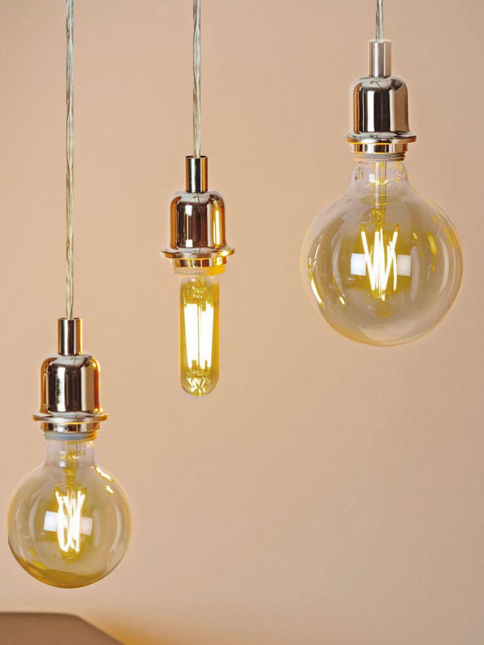 Lampadina a LED  Cross (E27 / 4Watt) 5 pz, Lampadina: vetro, Trasparente ambra, Ø 13 x Alt. 17 cm