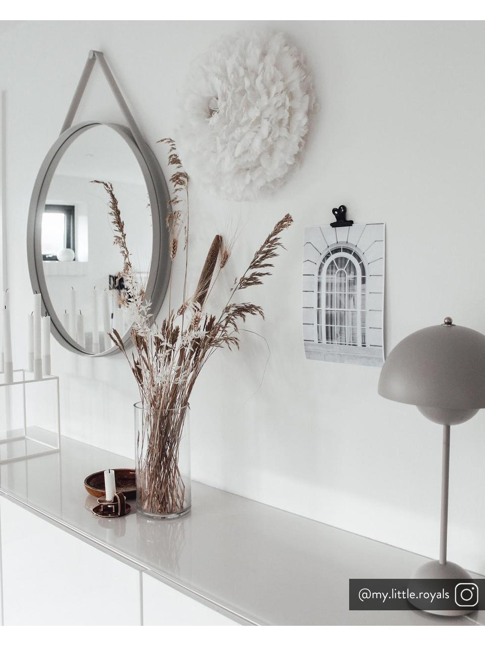Applique/plafonnier en plumes Eos Up, Blanc