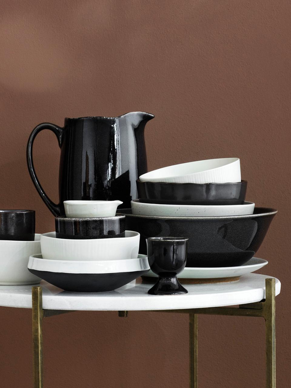 Portauova in terracotta fatto a mano Nordic Coal 4 pz, Terracotta, Marrone scuro, Ø 5 x Alt. 6 cm