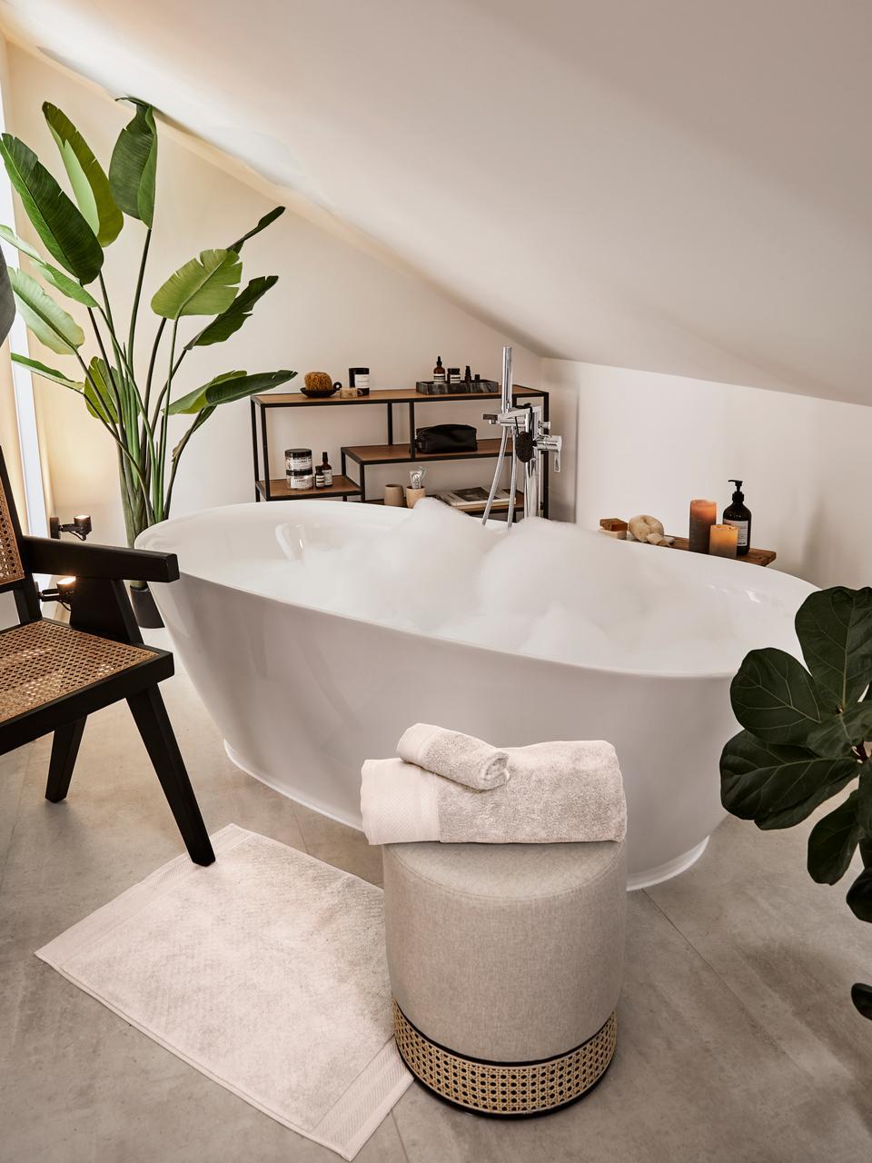 Tapis de bain antidérapant Premium, Beige