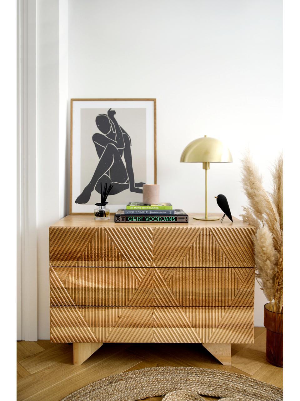 Cassettiera in legno frassino massiccio Louis, Legno di frassino massiccio verniciato, Legno di frassino, Larg. 100 x Alt. 75 cm