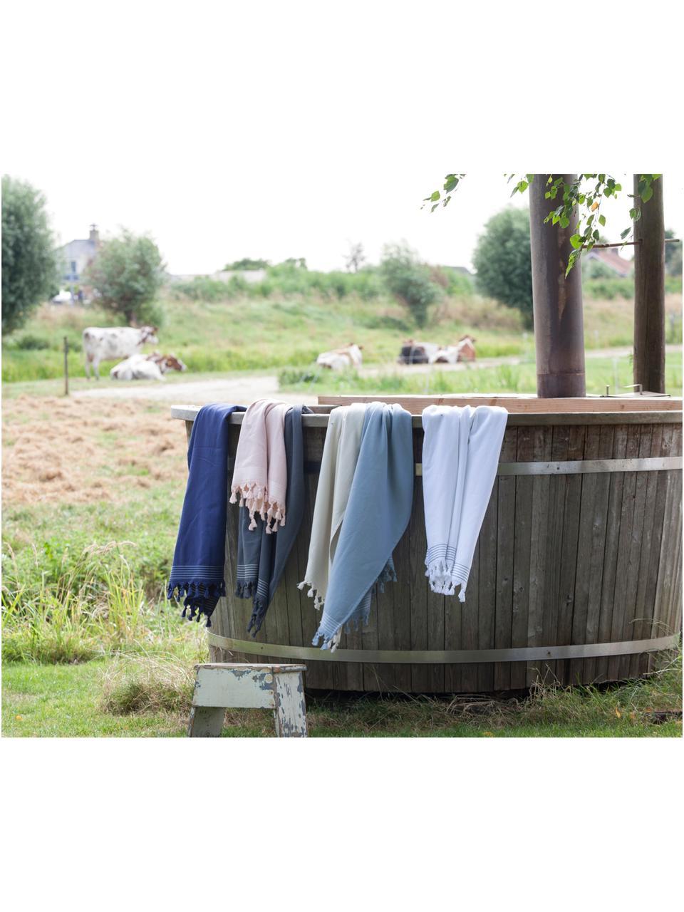 Telo mare Soft Cotton, Retro: Terry, Antracite, bianco, Larg. 100 x Lung. 180 cm