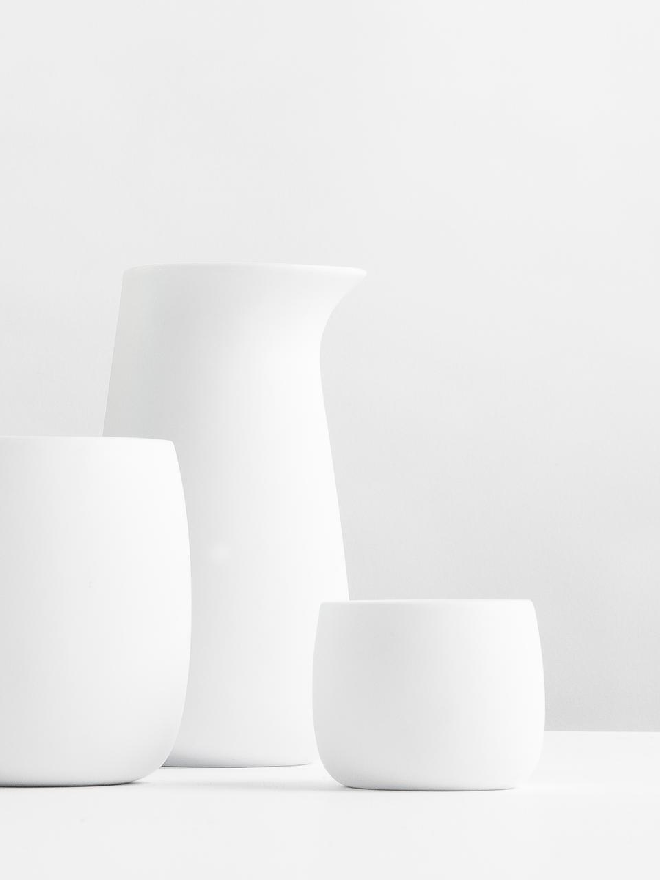 Tazzina caffè in porcellana Foster 2 pz, Porcellana, Esterno: bianco opaco Interno: bianco lucido, 40 ml