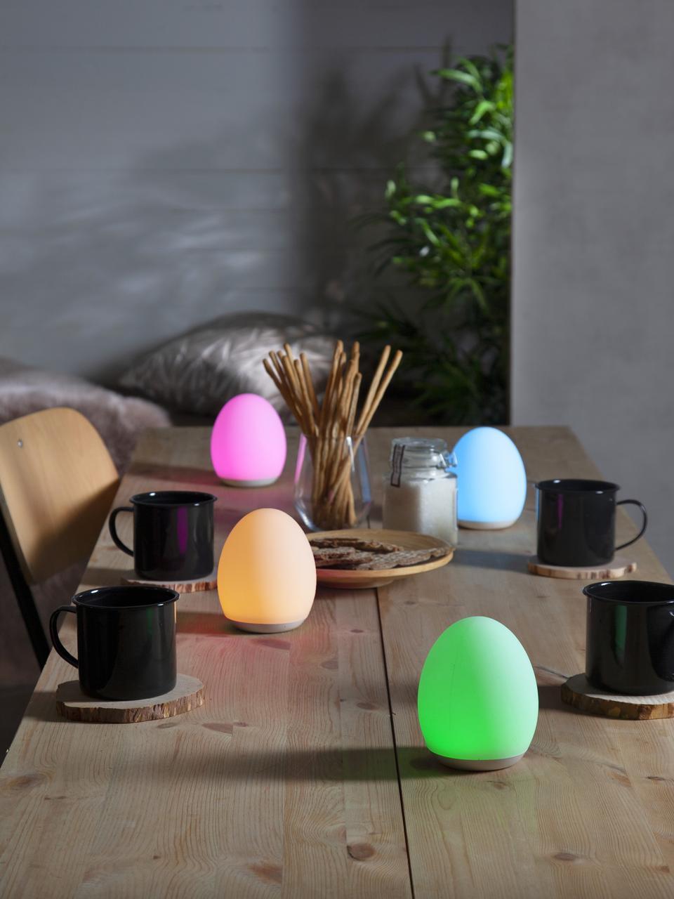 Přenosná venkovní stolní lampa se změnou barvy Nadia, Bílá