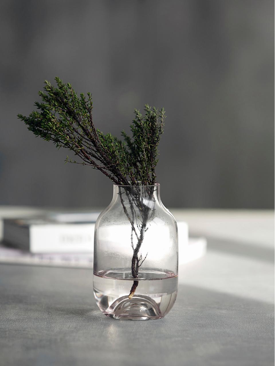 Vaso in vetro Shabergie, Vetro, Rosa, Ø 9 x Alt. 14 cm
