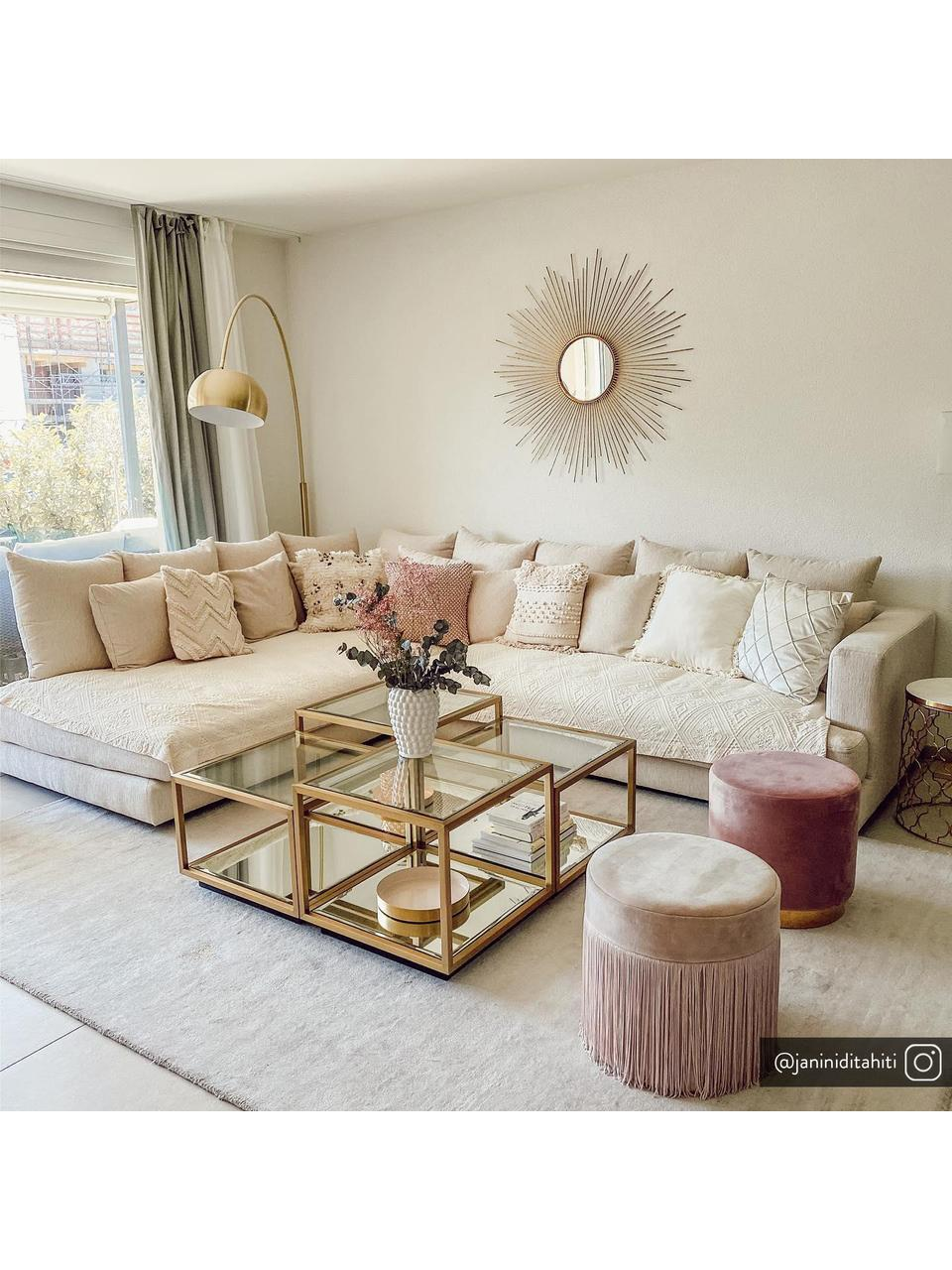 Poszewka na poduszkę z strukturalną powierzchnią Indi, 100% bawełna, Brudny różowy, S 45 x D 45 cm
