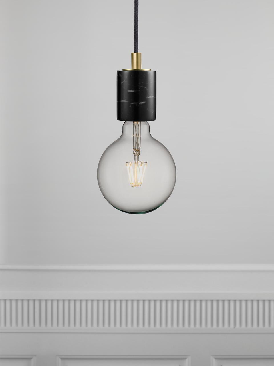 Lampada a sospensione in marmo Siv, Marmo, Nero, Ø 6 x Alt. 10 cm