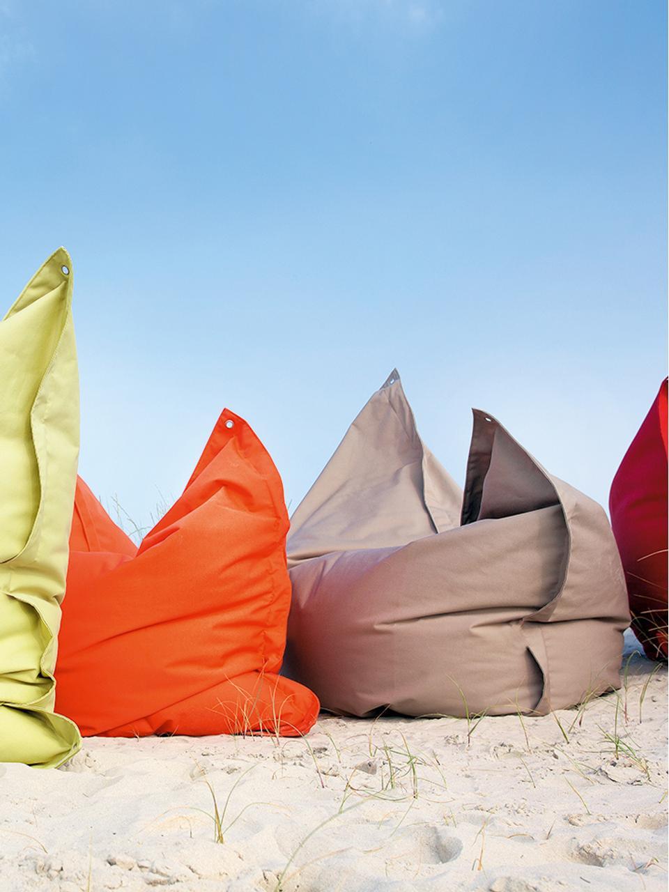 Großer Sitzsack Meadow, Bezug: Polyester, polyurethanbes, Greige, 130 x 160 cm