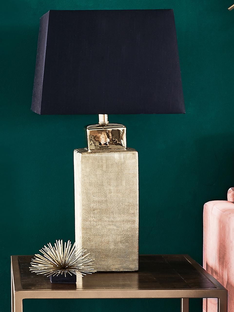 Oggetto decorativo Marburch, Ornamento: metallo, Ornamento: dorato, Base: marmo nero, Ø 16 x Alt. 11 cm