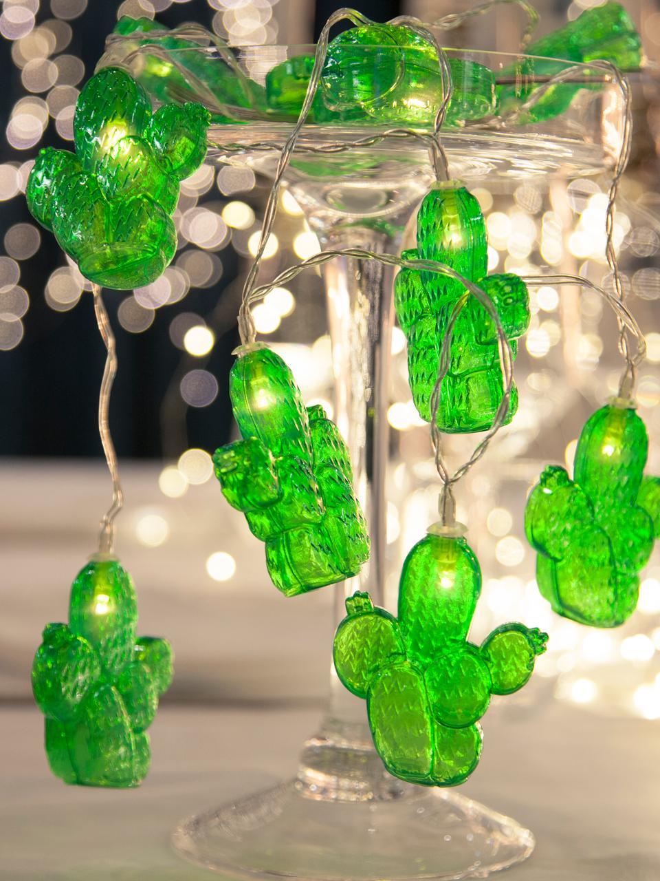 Girlanda świetlna z lampkami LED Desert, Tworzywo sztuczne, Zielony, D 135 cm