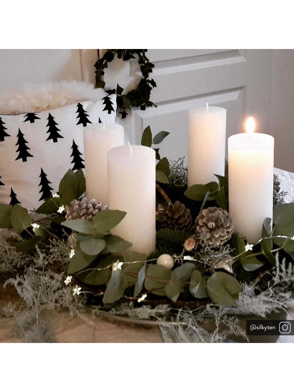 Bougie pilier Light, 2 pièces, Blanc