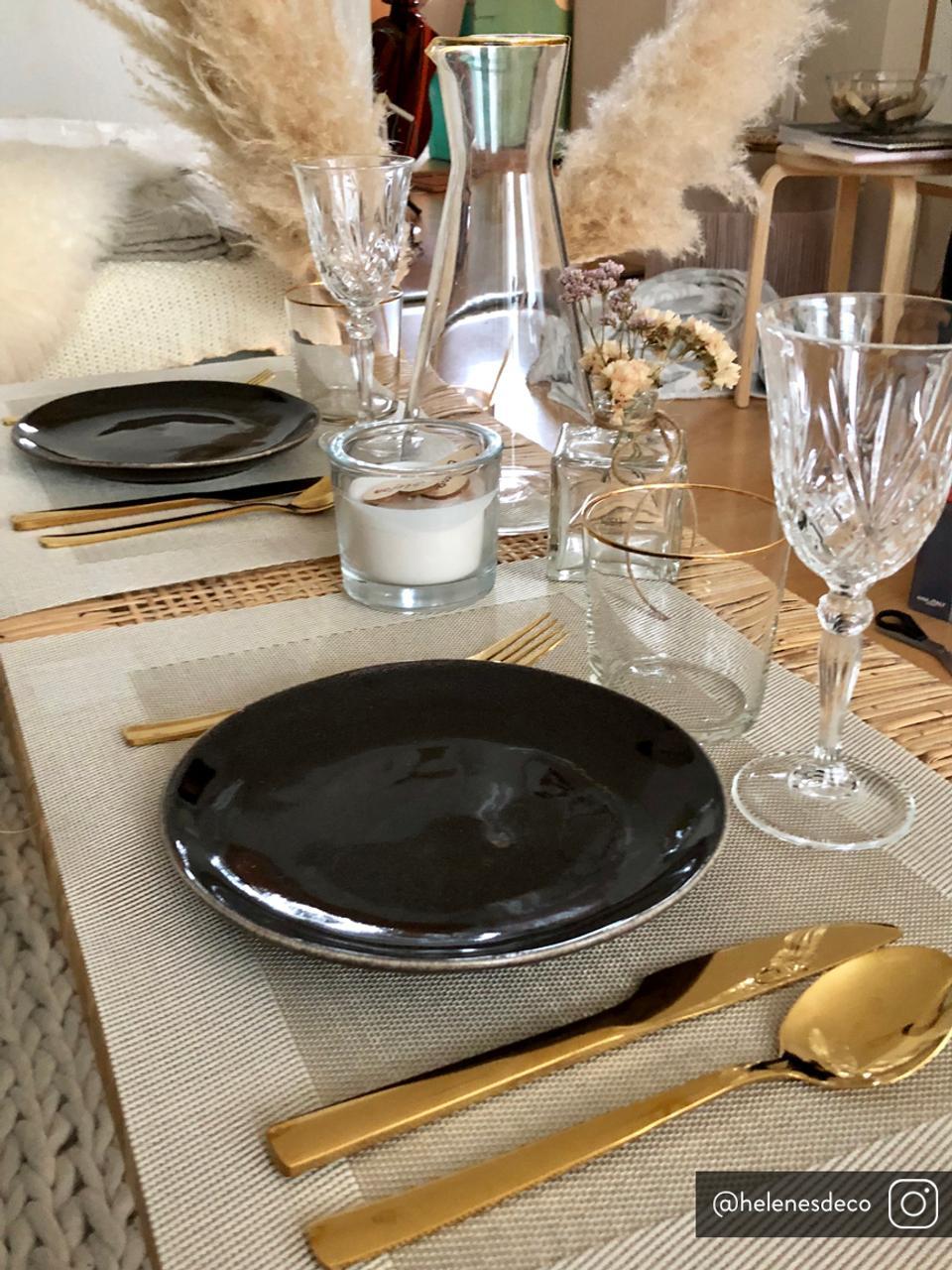 Kunststoff-Tischsets Trefl, 2 Stück, Kunststoff, Beige, Creme, 33 x 46 cm