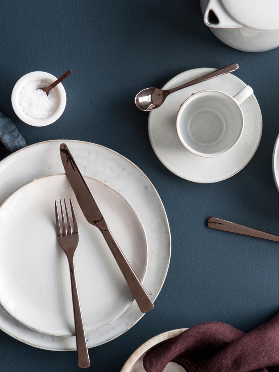 Service à petit-déjeuner fait main Nordic Sand, 4personnes (12élém.), Beige