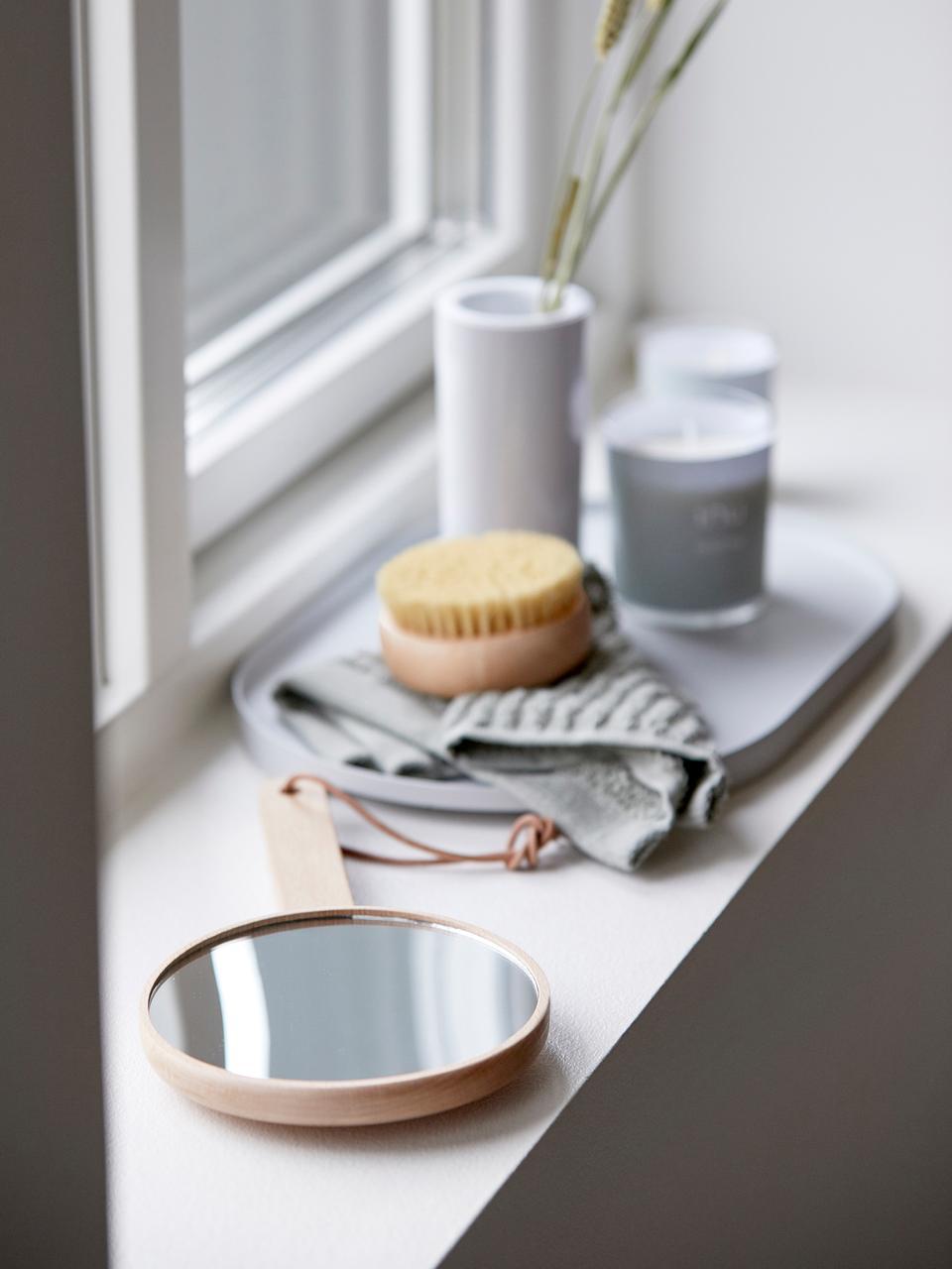 Kosmetikspiegel Inu, Holz, Spiegelglas, Holz, 14 x 27 cm
