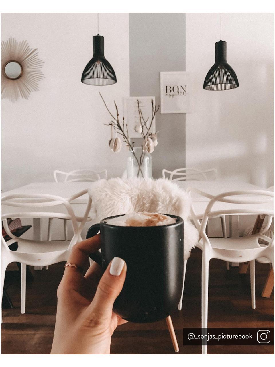 Mokken Nordic Kitchen in mat zwart, 4 stuks, Keramiek, Mat zwart, 300 ml