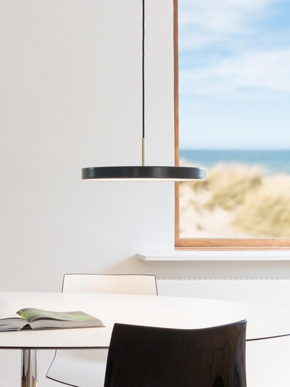 Designové zavěsné LED svítidlo Asteria, Antracitová