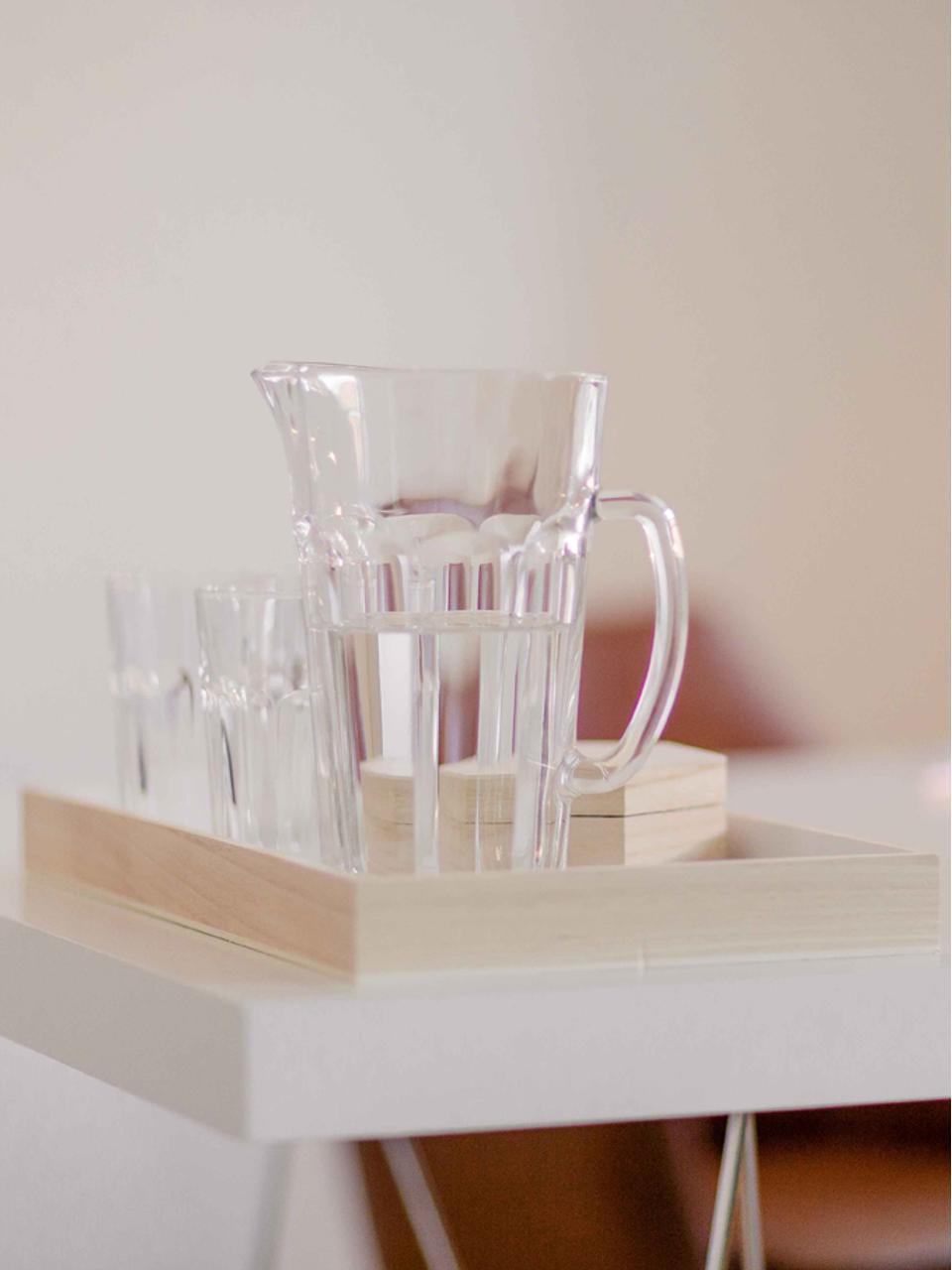Brocca Rock con bicchieri 7pz, Vetro, Trasparente, Set in varie misure