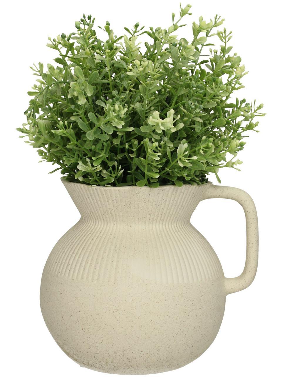 Vase Chysocolla aus Porzellan, Porzellan, Beige, 17 x 15 cm