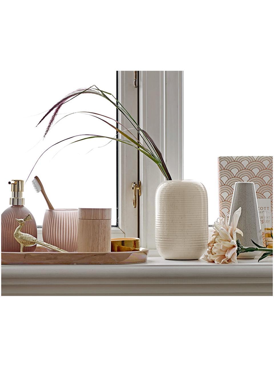 Vaso in terracotta beige Aya, Terracotta, Beige, Ø 11 x Alt. 17 cm