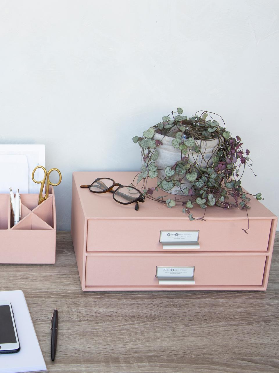 Organizador de escritorio Birger, Organizador: cartón laminado, Rosa palo, An 33 x Al 15 cm