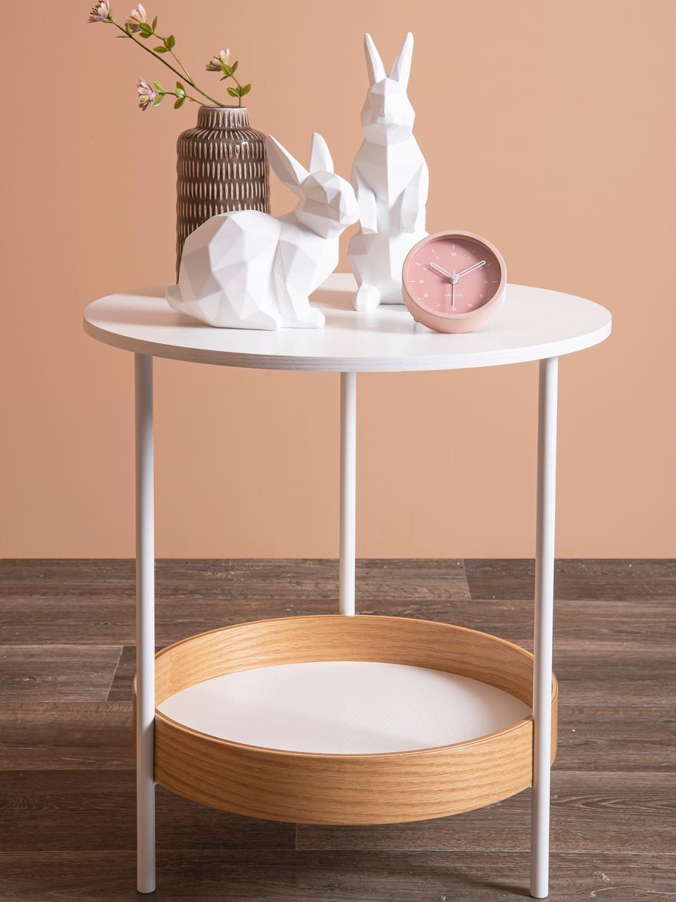 Budzik Tinge, Stal lakierowana, Blady różowy, Ø 9 x G 3 cm