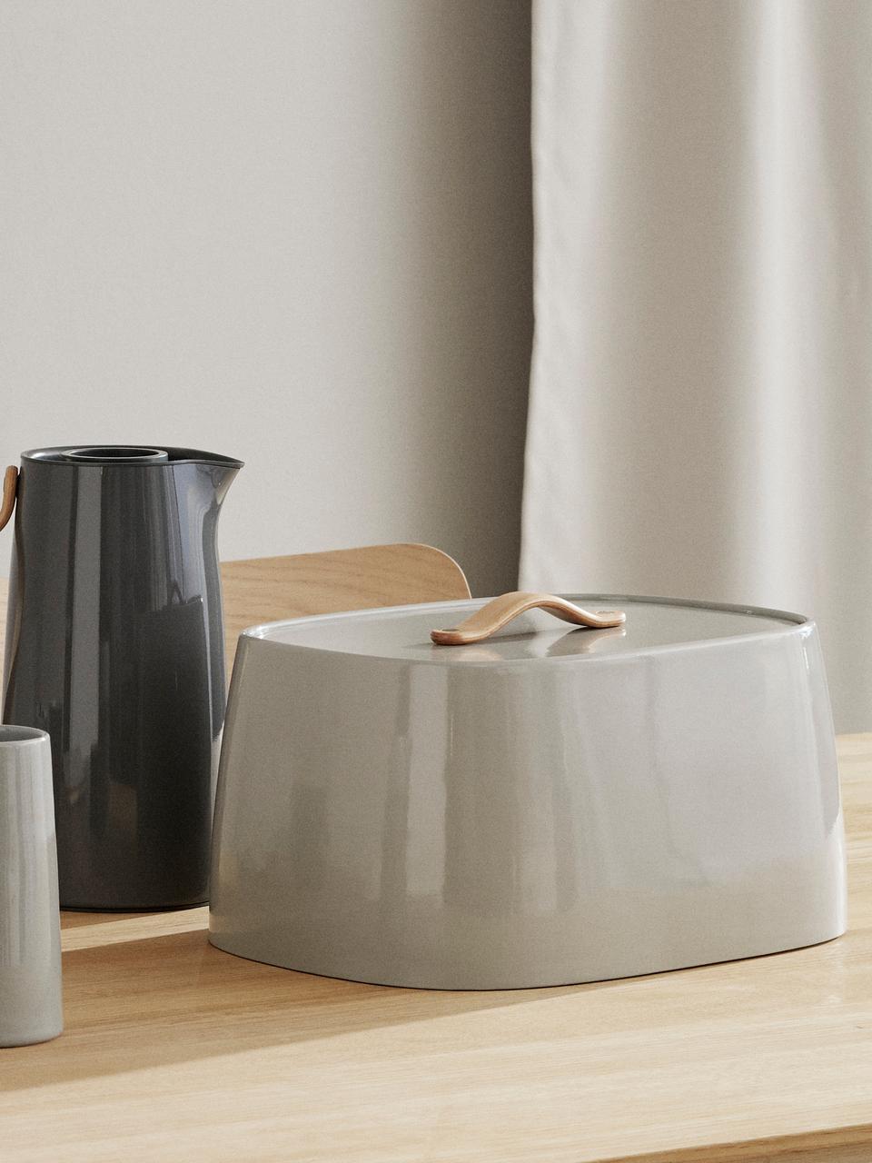 Boîte à pain design grise Emma, Gris