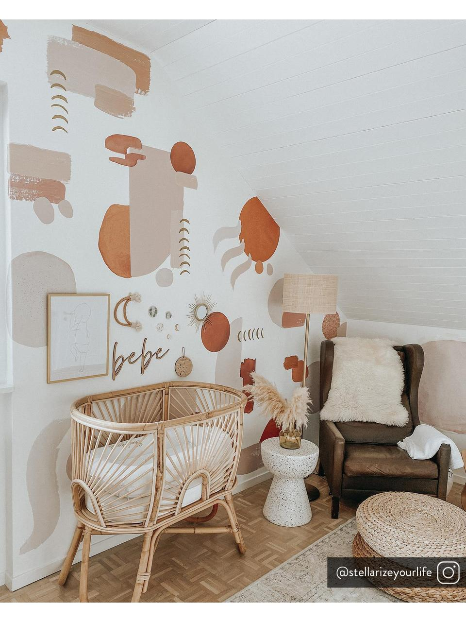 Tavolino in cemento Lars, Cemento con terrazzo, Multicolore, Ø 35 x Alt. 44 cm
