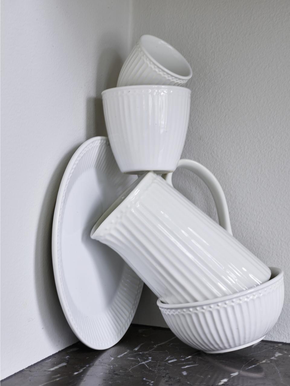 Bols en porcelaine Alice, 2pièces, Blanc