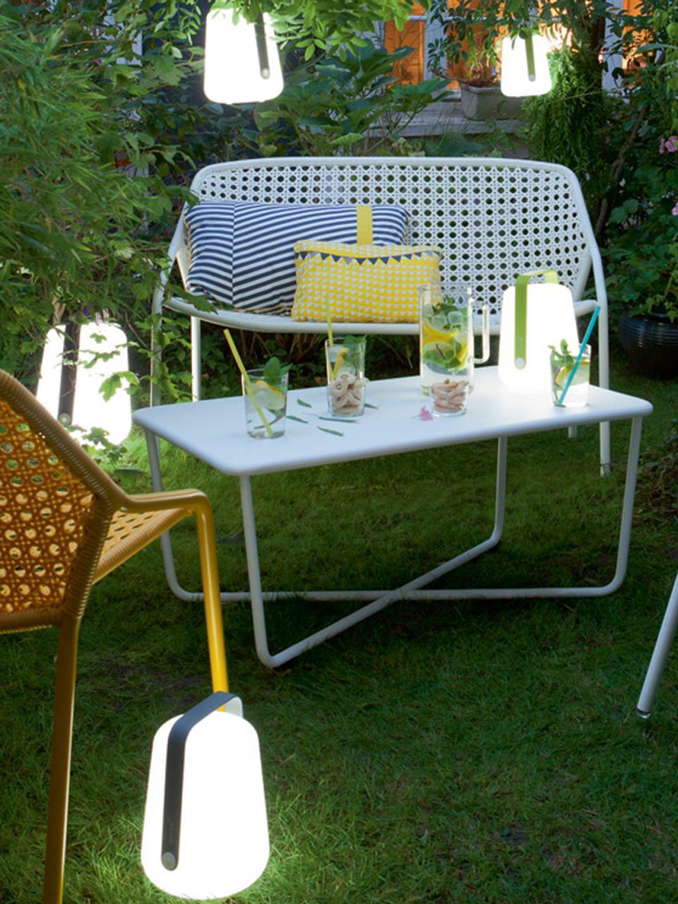Přenosná stmívatelná venkovní stolní lampa Balad, Azurová