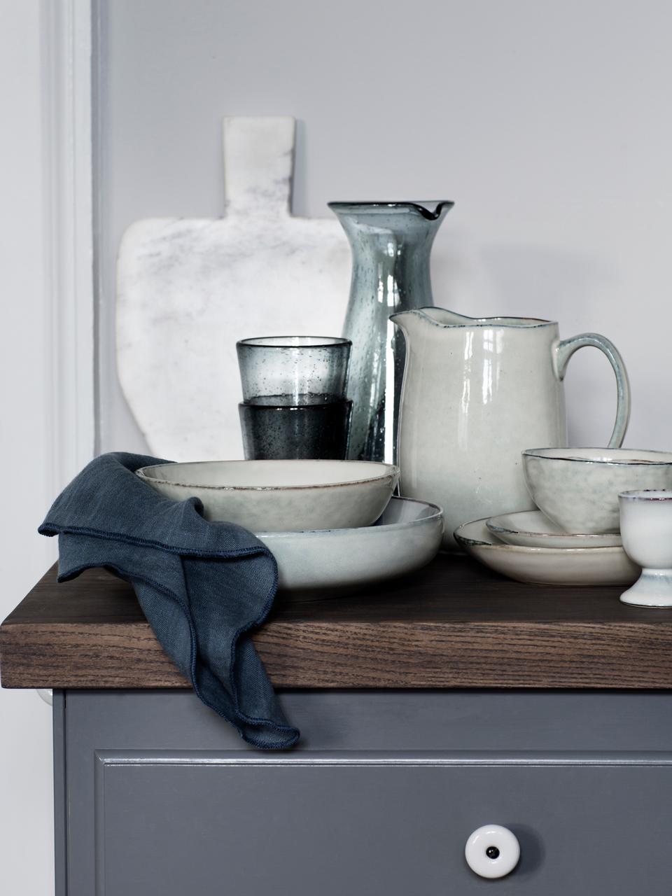 Pichet à lait en grès fait main Nordic Sand, 1l, Sable