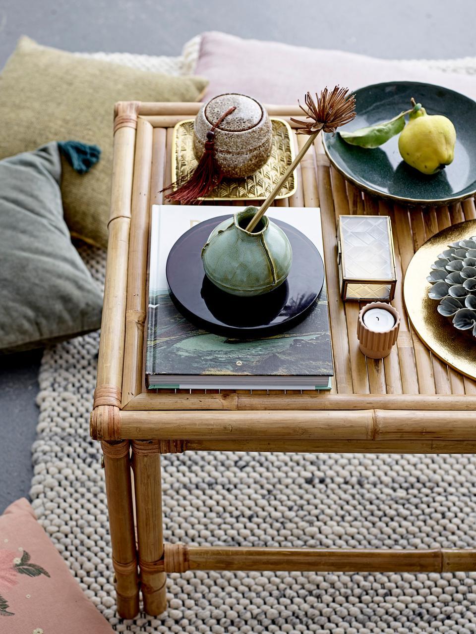 Salontafel Sole van bamboe, Bamboehout, Beige, 90 x 50 cm