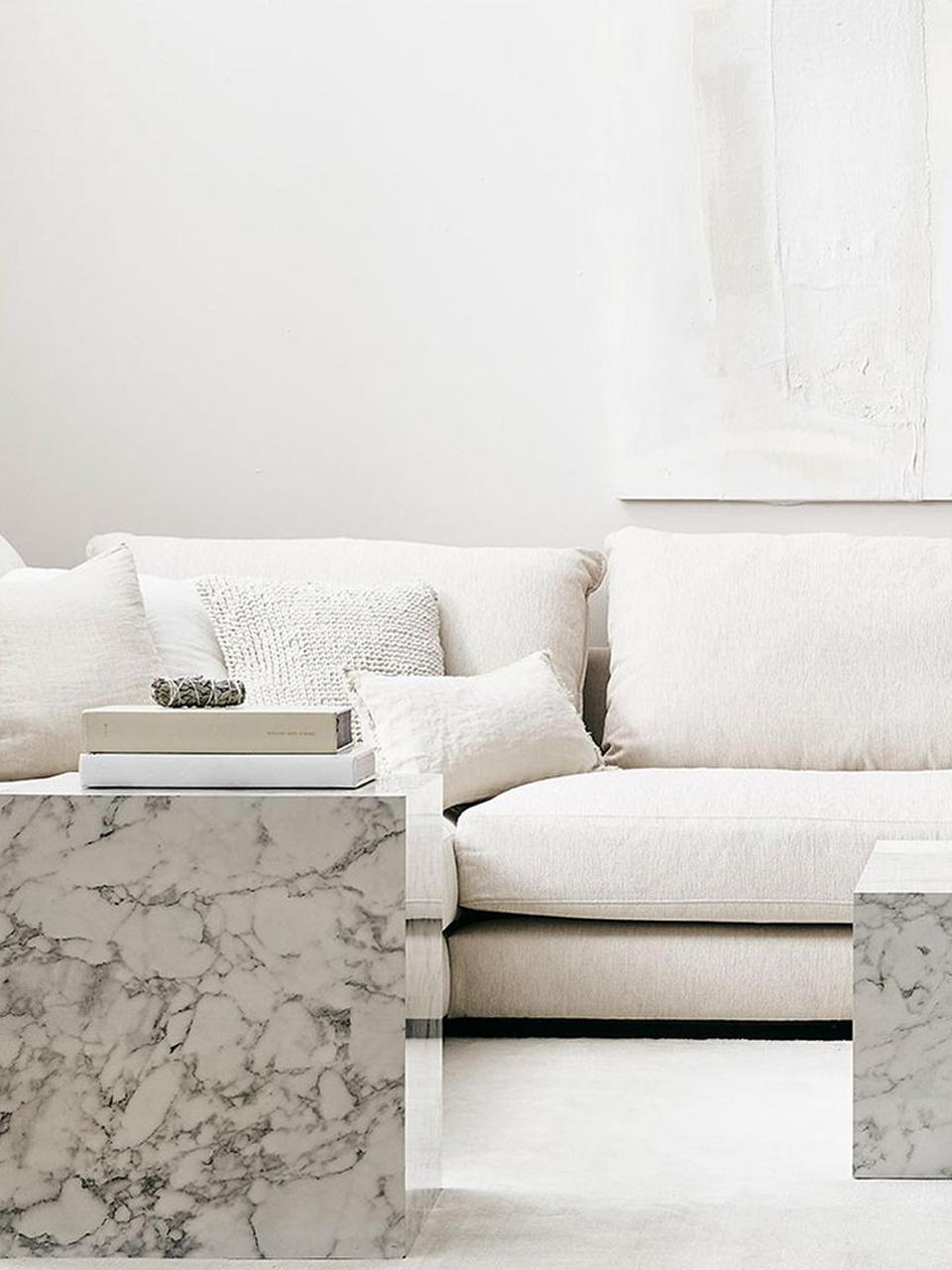 Federa arredo in lino bianco crema con frange Luana, 100% lino, Bianco crema, Larg. 30 x Lung. 50 cm