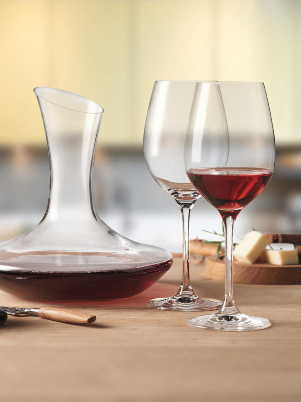 Komplet do czerwonego wina Barcelona, 3elem., Szkło, Transparentny, Komplet z różnymi rozmiarami