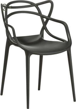 Krzesło z podłokietnikami do ustawiania w stos Masters, 2 szt.