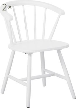 Sedie con braccioli Windsor Megan in legno, 2 pz.