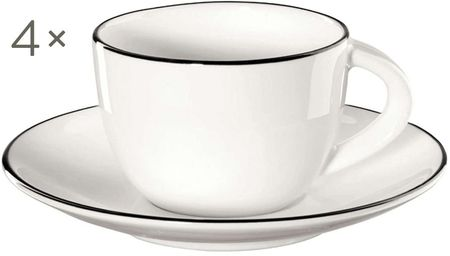 Komplet filiżanek do espresso á table ligne noir, 8 elem.
