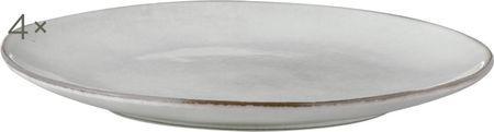 Handgemaakte dinerborden Nordic Sand, 4 stuks