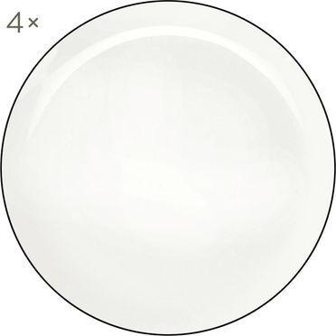 Talerz duży á table ligne noir, 4 szt.