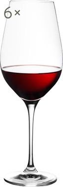 Bicchiere da vino rosso in cristallo  Harmony 6 pz