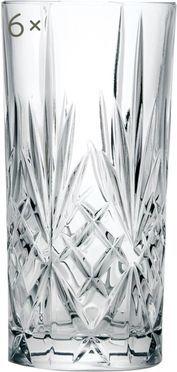 Kristallen longdrinkglazen Melodia, 6 stuks