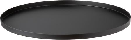 Bolvormige decoratief dienblad Circle in zwart