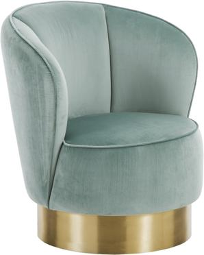 Fauteuil cocktail en velours Olivia