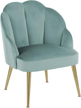 Fauteuil cocktail en velours Helle